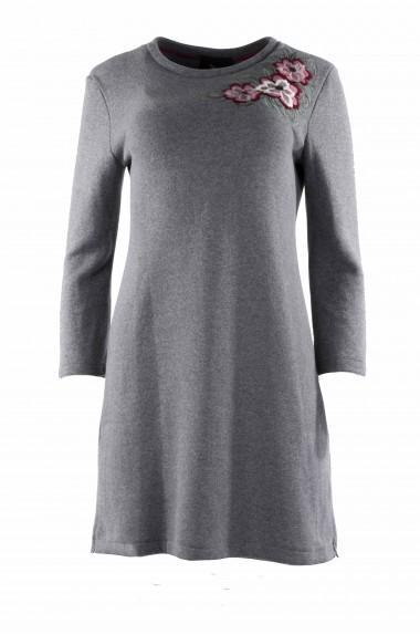 Vestito donna grigio con...