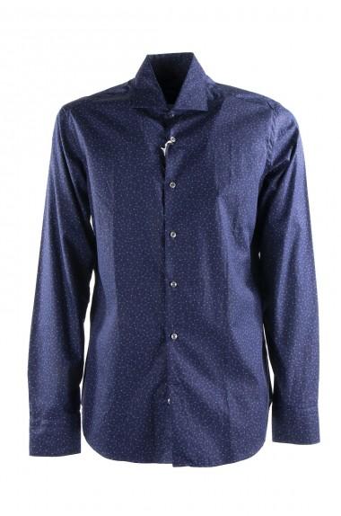Camicia uomo blu floreale,...