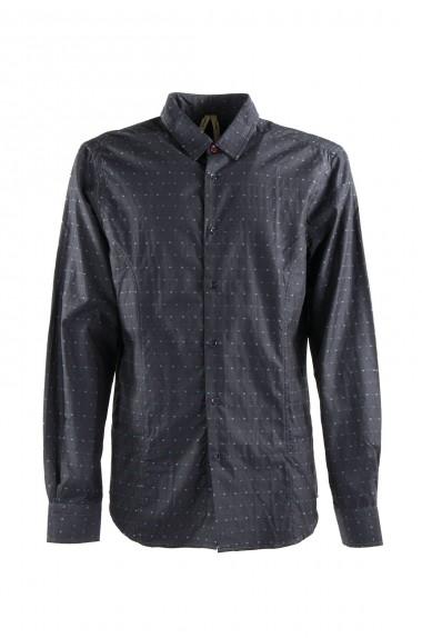 Camicia grigio scuro con...