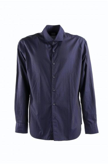 CELLINI, camicia uomo blu a...