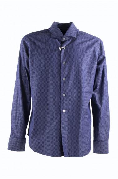 Camicia uomo blu con rombi,...