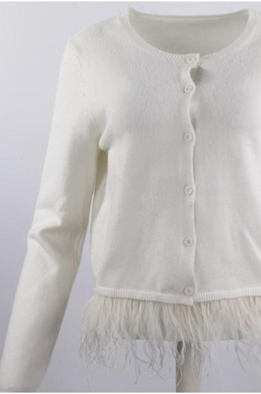 Cardigan bianco da donna...