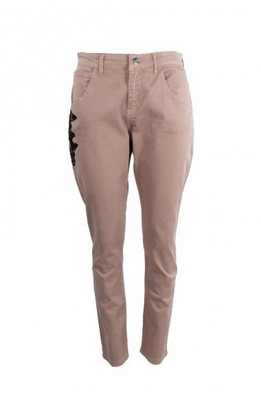 Pantalone 5 tasche rosa, LA...