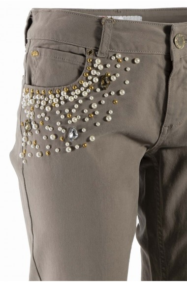 Pantalone inserti perline...