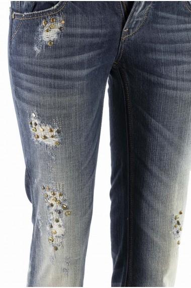 Jeans délavé con inserti...