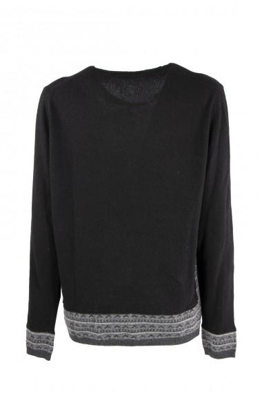 Maglia Wool & co Nero/grigio