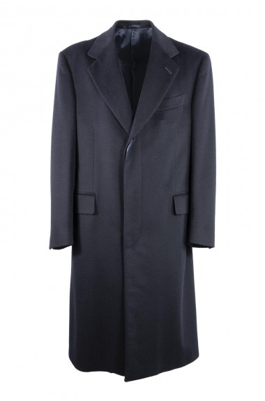 Cappotto uomo blu navy 100%...