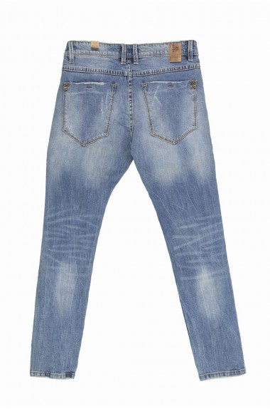 Jeans uomo dèlavè con...