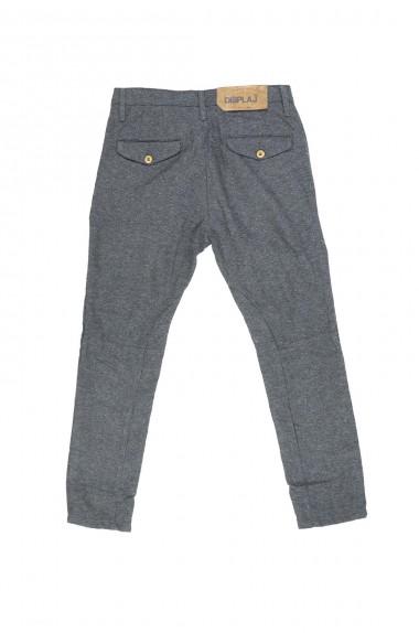 Pantalone grigio con pence...