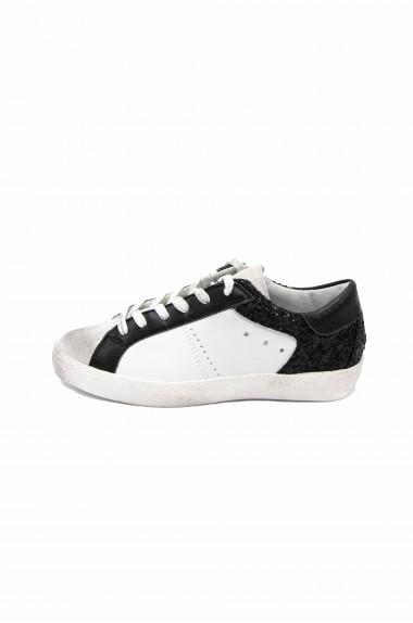 Sneakers donna glitter nero...