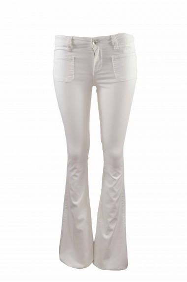 Pantalone bianco a zampa in...