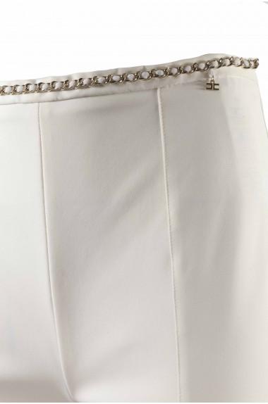 Pantalone bianco con catena...